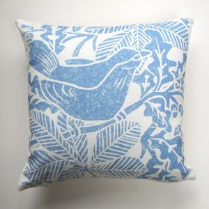 Blackbird Linen Cushion