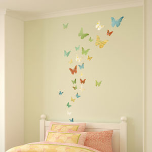 Patterned Butterfly Wall Stickers - wall stickers