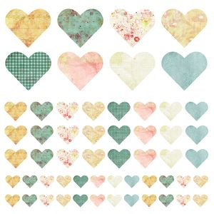Fabric Heart Wall Stickers - home decorating