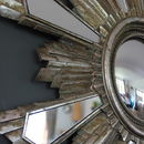 Aged Sunburst Wall Mirror