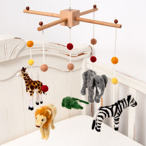 Needle Felt Safari Mobile - children's room accessories