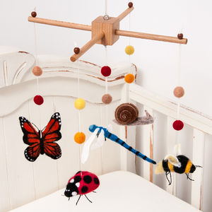 Needle Felt Insect Cot Mobile - children's decorative accessories