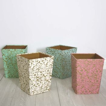 Recycled Floral Waste Paper Bin