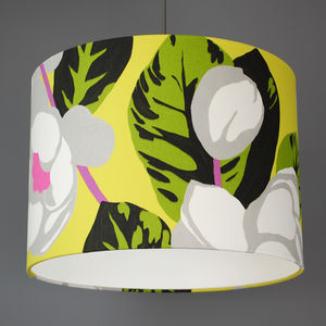 Designers Guild Flamingo Park Fabric Lampshade - dining room
