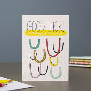 'Good Luck' Greetings Card - good luck cards