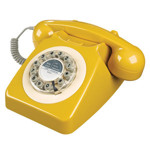 Retro Mustard Telephone