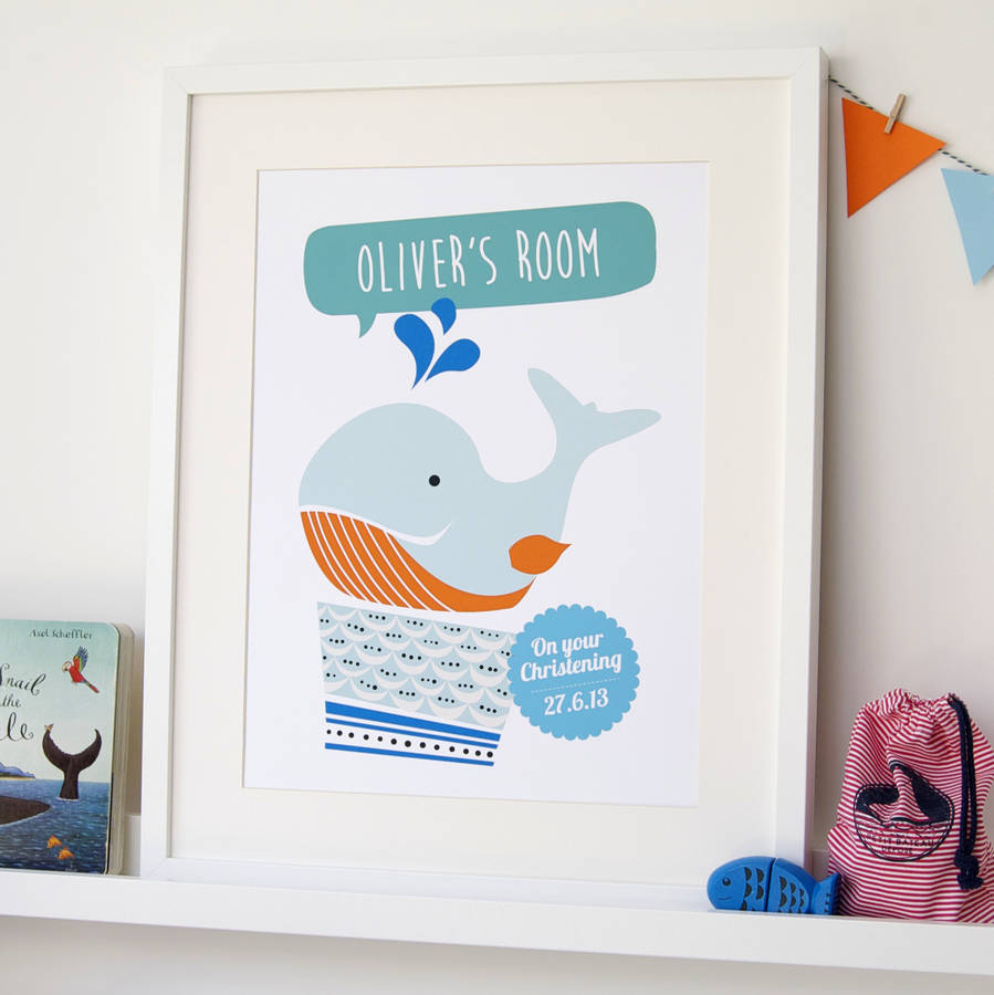 Personalised Children's Whale Print