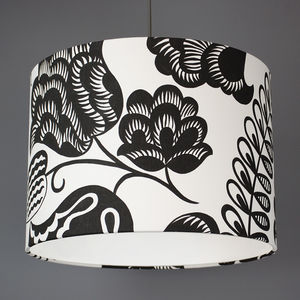 Designers Guild Coconut Grove Fabric Lampshade - dining room