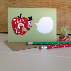 Teacher 'Thank You' Card - gifts for teachers