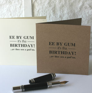 'Yorkshire Dialect' Birthday Card