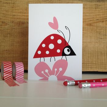 Ladybird Birthday And Valentines Card