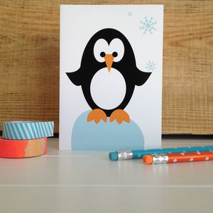 Christmas Penguin Card - christmas cards: packs