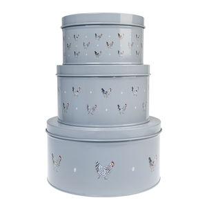 Set Of Three Cake Tins