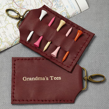 Personalised Golf Tee Holder