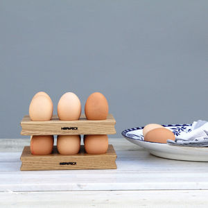 Wooden Egg Rack Solid Oak - kitchen storage