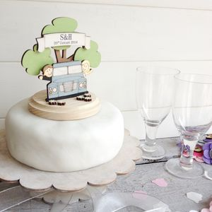 Personalised Land Rover Wedding Cake Topper - cake decoration