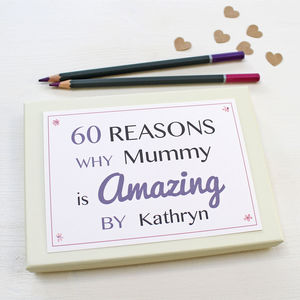 Personalised Milestone Birthday Notes - gifts for mothers