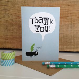 Children's Ant 'Thank You' Greetings Card - thank you cards