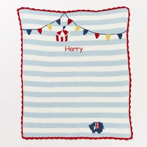 Personalised Circus Design Baby Blanket - soft furnishings & accessories