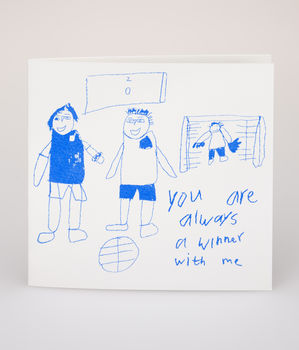 You're Always A Winner Hand Printed Card