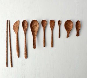 Natural Coconut Wood Cutlery - on trend: tropical