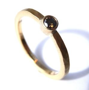 Chocolate Diamond Gold Ring - gold & diamonds