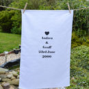 Personalised 'Anniversary' Tea Towel