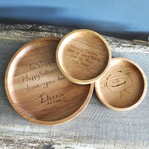 Tray/Bowl With Your Handwriting In Solid Oak - dining room