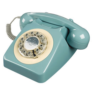Retro French Blue Telephone - living room