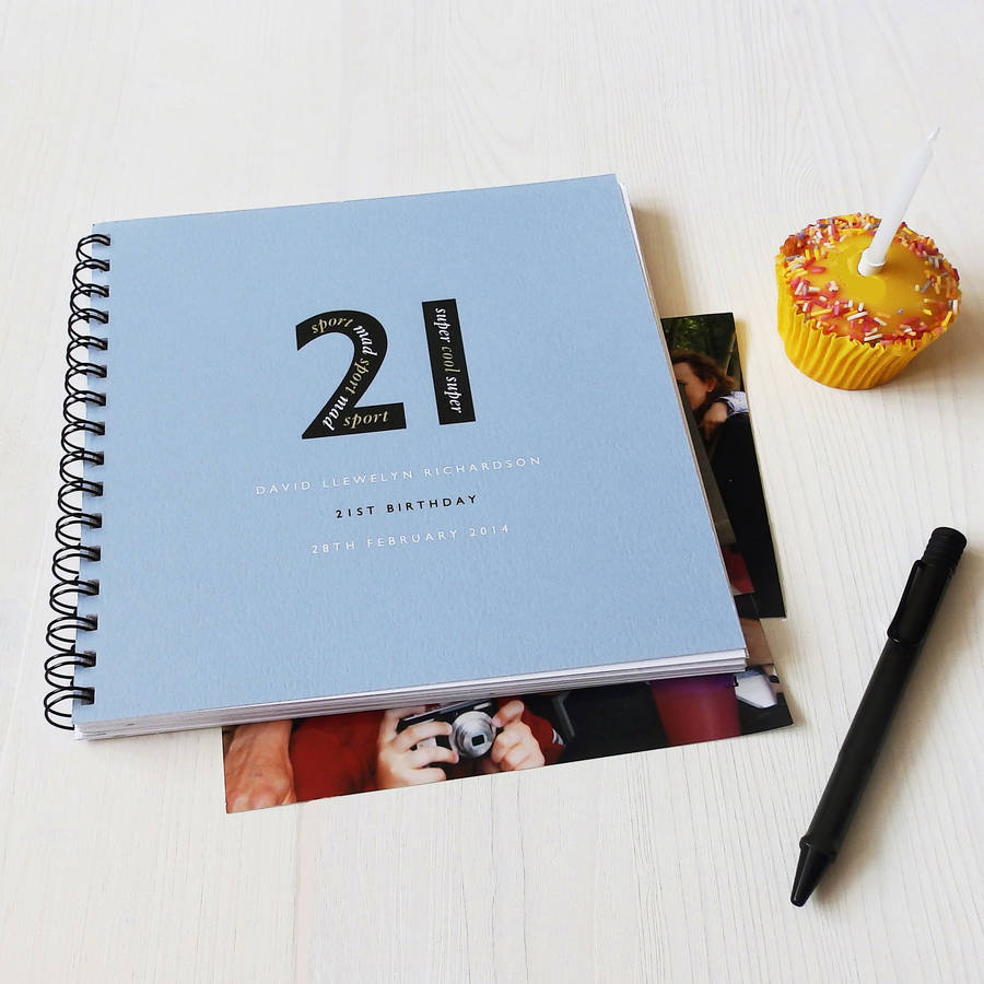 Personalised Landmark Birthday Memories Album