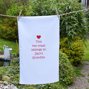 Personalised 'Grandma' Tea Towel - tea towels