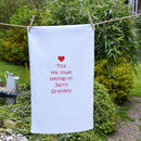 Personalised 'Grandma' Tea Towel