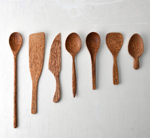 Natural Coconut Wood Utensils - modern country kitchen