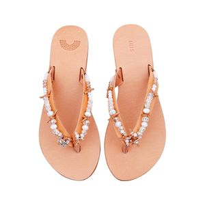Bridal Hand Embellished Leather Sandals - bridal shoes