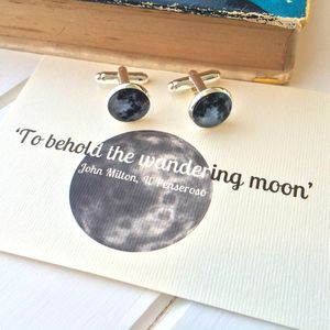 'Wandering Moon' Full Moon Cufflinks - men's accessories