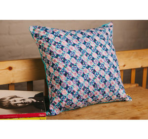 Handmade Diamond Blues Cushion