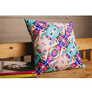 Handmade Ikat Explosion Cushion - living room