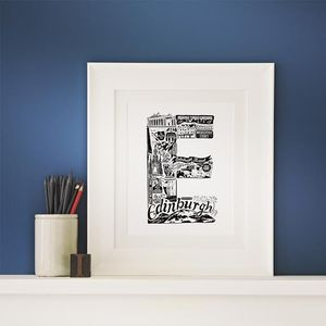 Best Of Edinburgh Graduation Print - treasured locations & memories