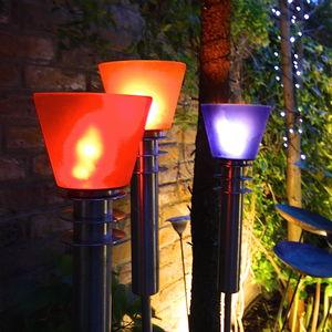 Coloured Garden Oil Torch - christmas lighting