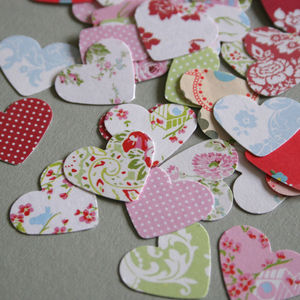 Garden Party Heart Confetti - easter decorations
