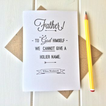 Wordsworth Quote Father's Day Card