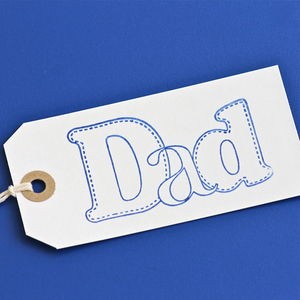 'Dad' Gift Tag ~ Large