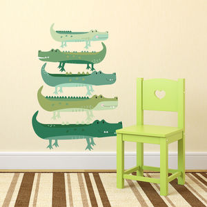 Fabric Crocodile Wall Stickers - office & study