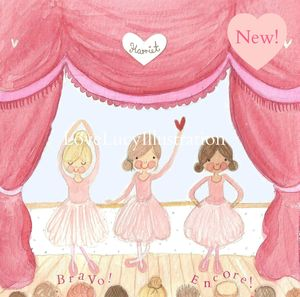 Personalised Ballet Show Print - children's pictures & paintings