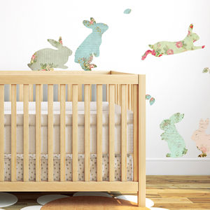 Fabric Rabbit Wall Stickers - easter decorations