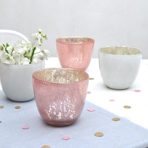 Mercury Glass Vase Or Votive - votives & tea light holders