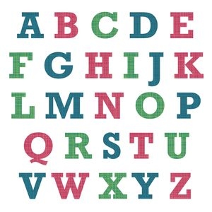 Fabric Patterned Alphabet Wall Stickers - wall stickers