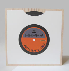 Personalised Vinyl Record Card