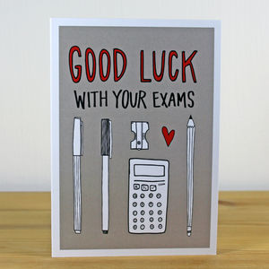'Good Luck With Your Exams' A6 Greetings Card
