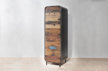 Boatwood Tall Vintage Cabinet